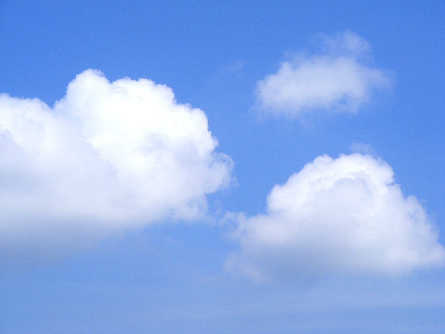 Perfect Blue Sky with Cumulonimbus Clouds