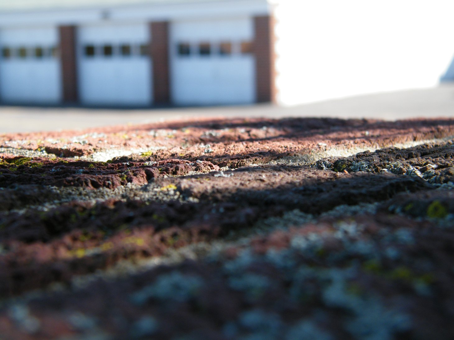 Macro Scene of Ground with Garage Background