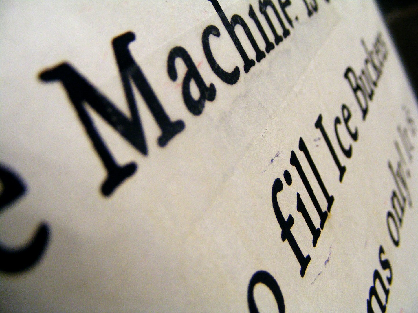 Macro Marble Engraved Words