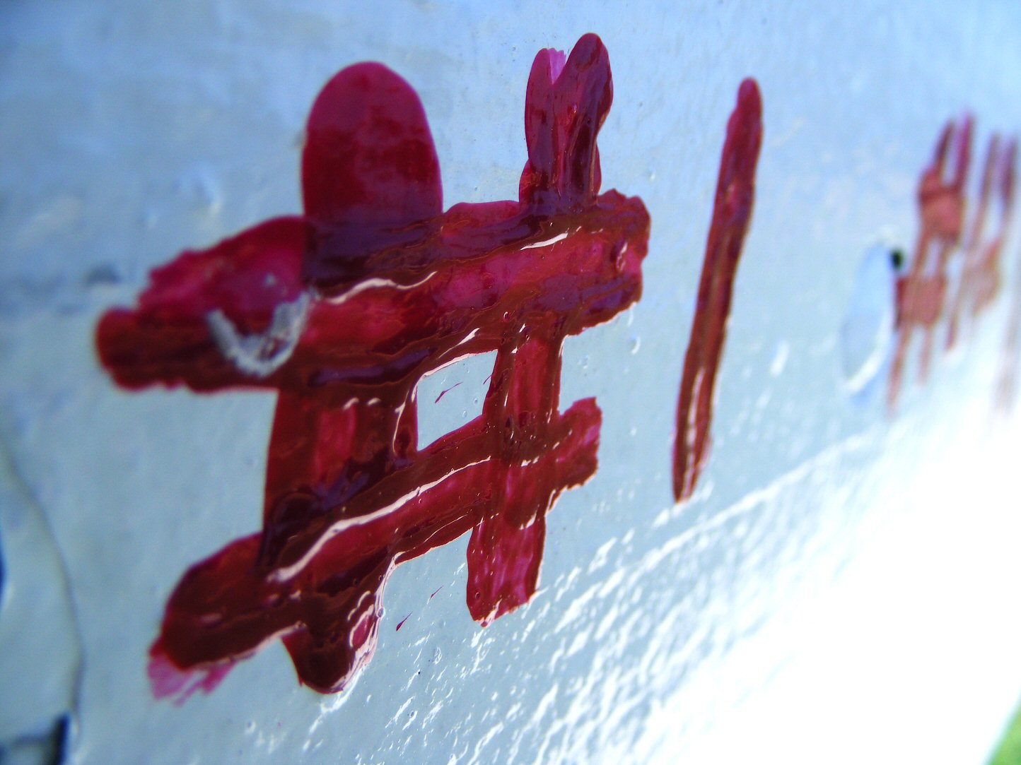 Macro Paint on Park Bench