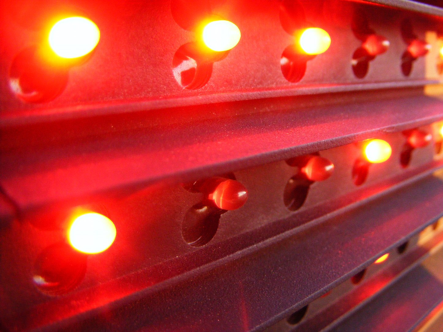 Macro Red Sign Light Bulbs